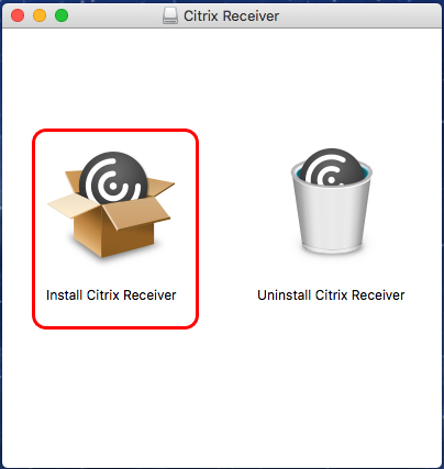 Double-Click the Install Citrix Receiver Package