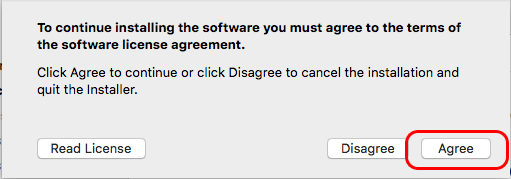 Agree to the license agreement