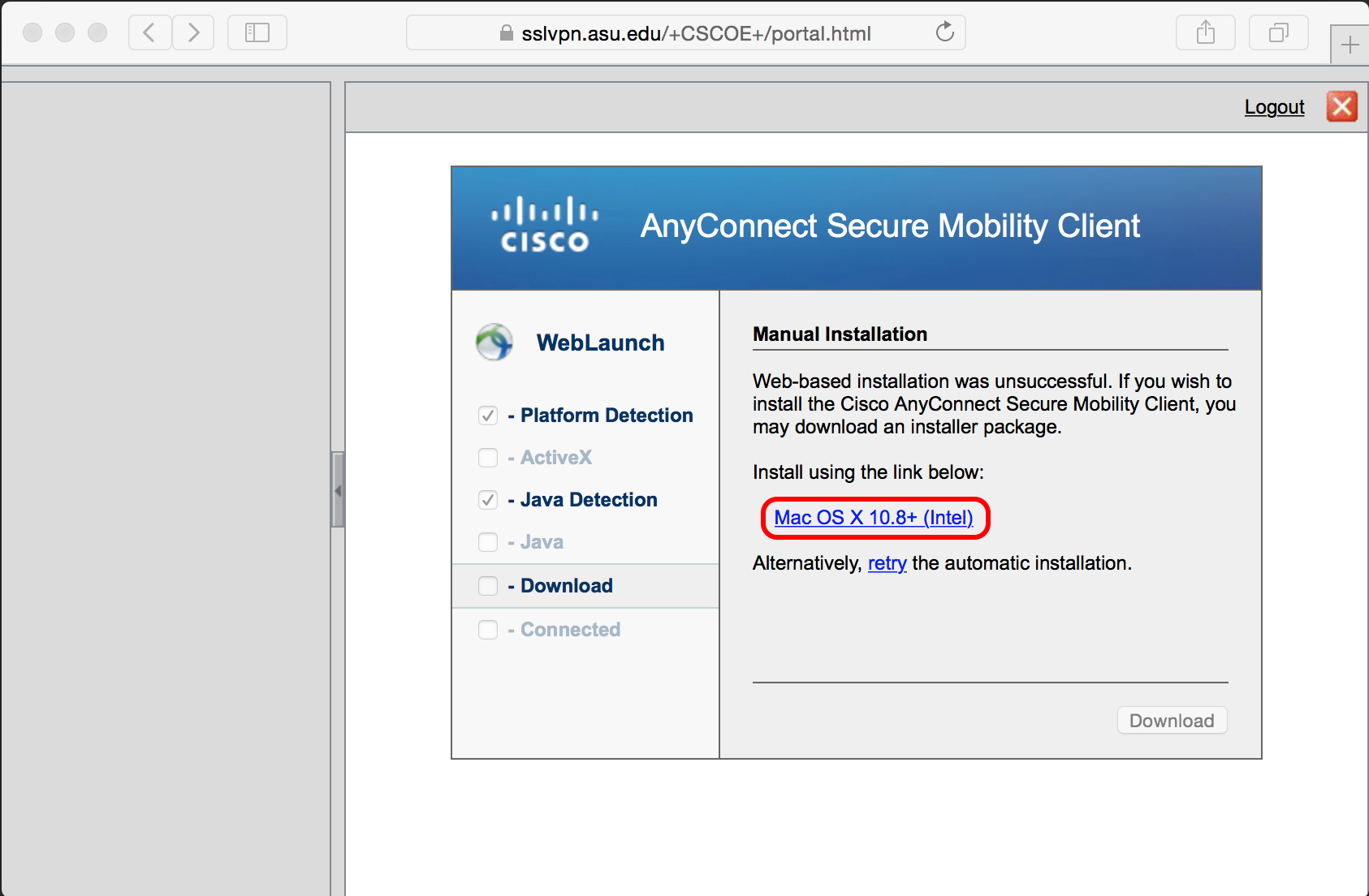 cisco vpn mobility client download mac